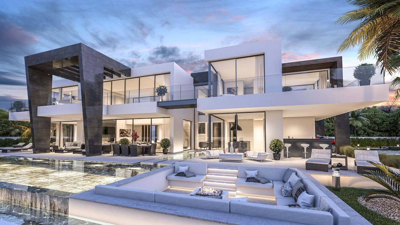 wa costa ref 00236 modern villas estepona. Black Bedroom Furniture Sets. Home Design Ideas